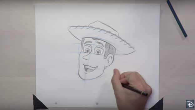 Drawing of Woody from 'Toy Story'