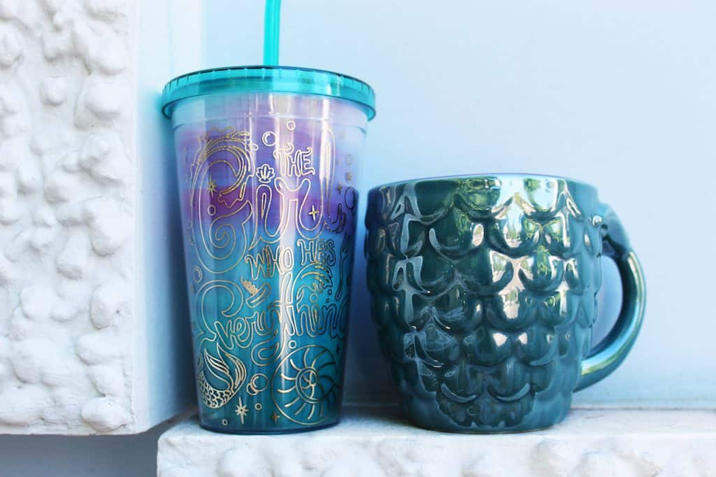 'The Little Mermaid'-themed mug and tumbler