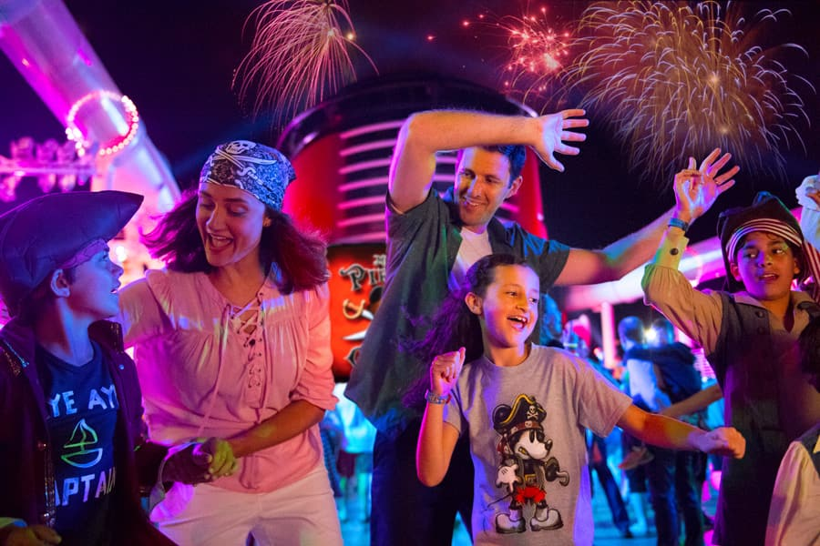 Family dancing in Disney Cruise