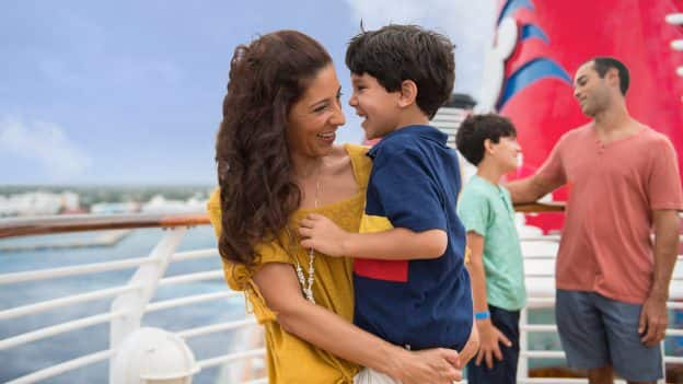 Family on Disney Cruise