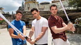Jonas Brothers visit Star Wars: Galaxy's Edge