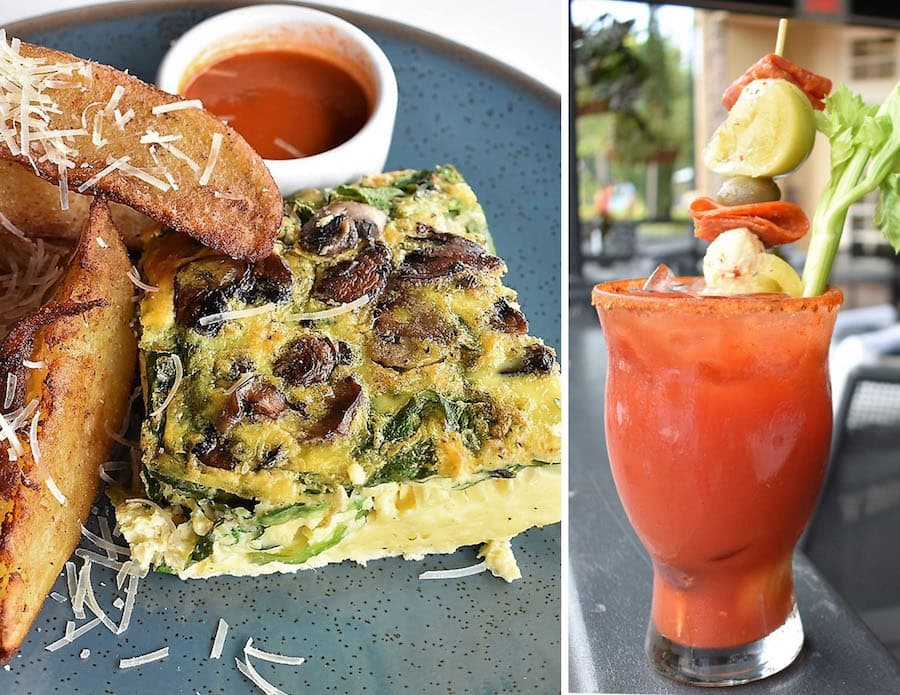 Brunch items from Terralina Crafted Italian at Disney Springs