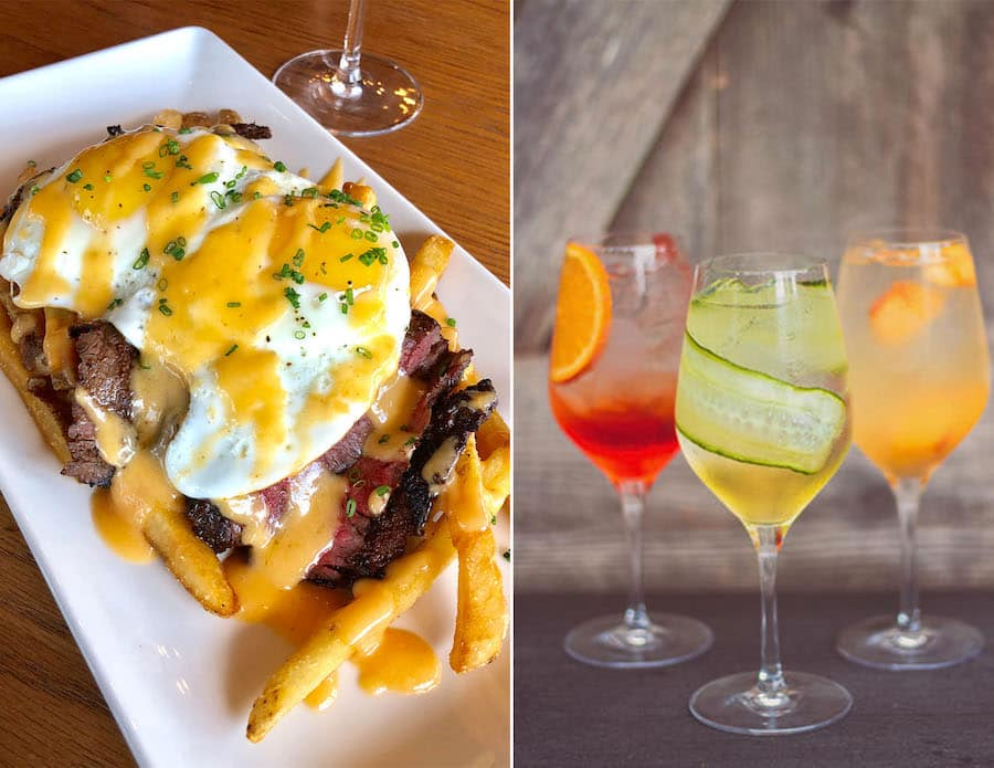 Brunch items from Wine Bar George at Disney Springs