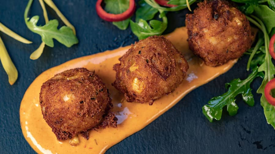 Dynamite Seafood Hush Puppies from Blue Bayou Restaurant at Disneyland Park