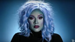 Madame Leota-inspired makeup