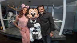 Mexican Actor Eduardo Capetillo and Actress Bibi Gaitán celebrate their 25th Anniversary at Disneyland Resort