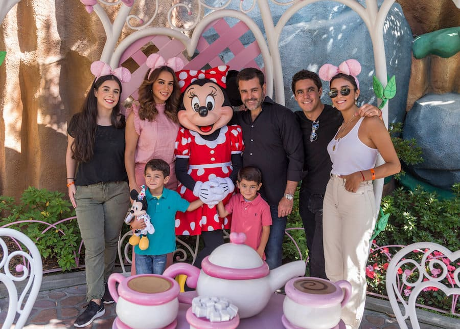 Mexican Actor Eduardo Capetillo and Actress Bibi Gaitán celebrate their 25th Anniversary at Disneyland Resort with their family