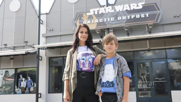 Kids in Star Wars apparel from Star Wars Galactic Outpost