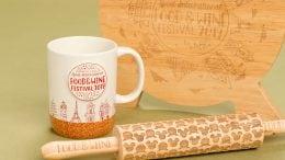 Epcot International Food & Wine Festival 2019 Merchandise - commemorative mug, rolling pin and cutting board