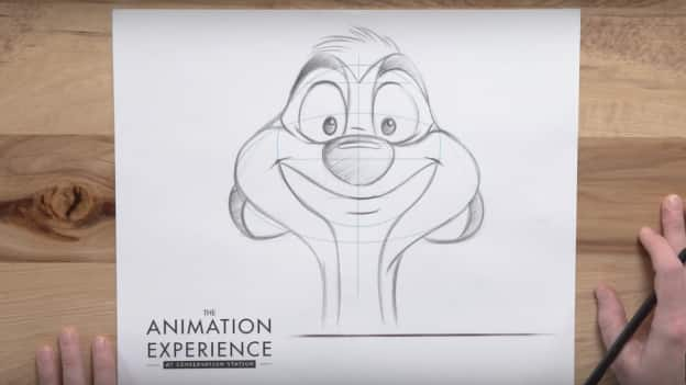 Timon from 'The Lion King' drawing