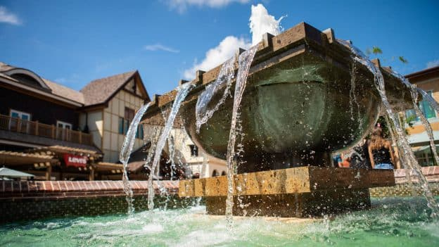 Fountain at Disney Springs
