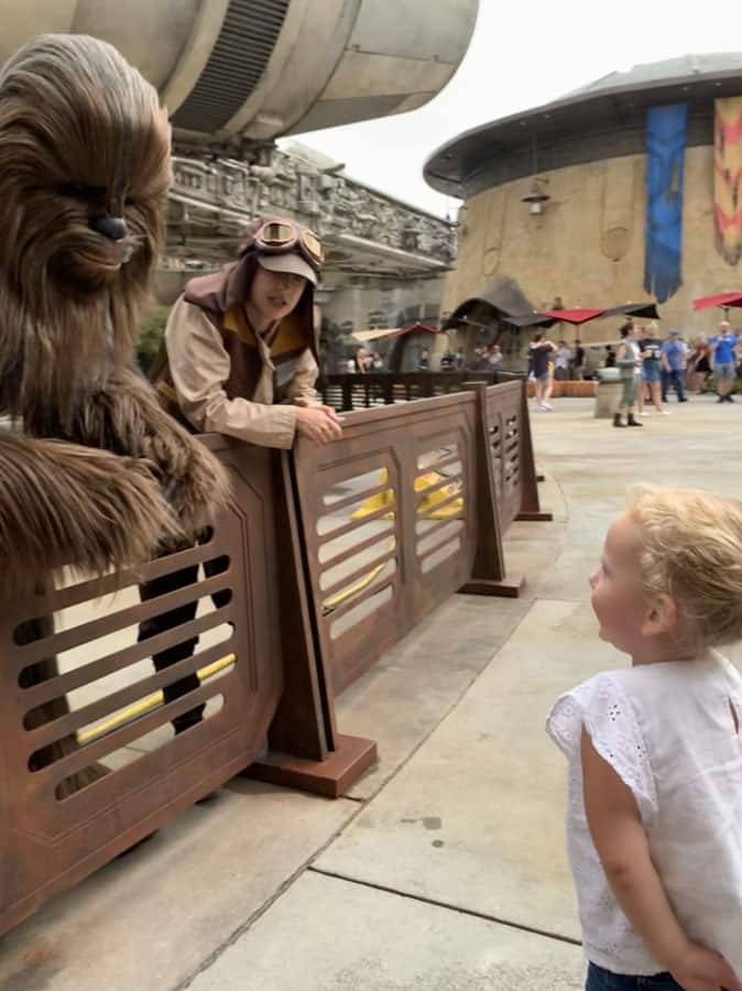 Young Chewbacca Fan Lives Star Wars Dream During Early Visit to Star Wars: Galaxy's Edge at Disney's Hollywood Studios