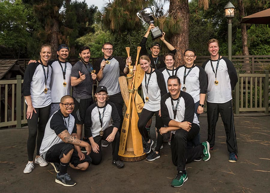 Disneyland Resort Cast Members Canoe Tradition Photo