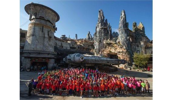 Central Florida students from Boys & Girls Clubs visiting Star Wars: Galaxy's Edge at Walt Disney World Resort
