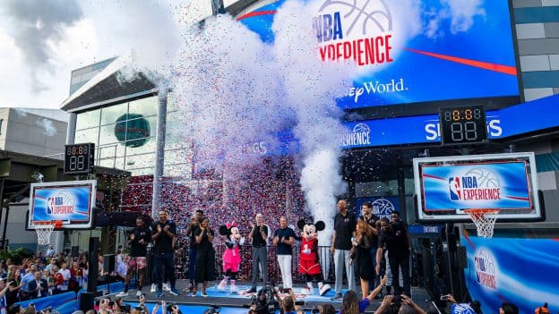 NBA Experience at Disney Springs grand opening moment