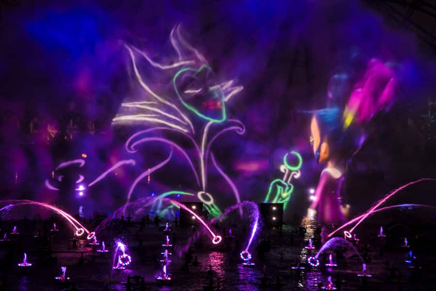 """Villainous!"" a new ""World of Color"" nighttime spectacular during Oogie Boogie Bash – A Disney Halloween Party at Disney California Adventure park"