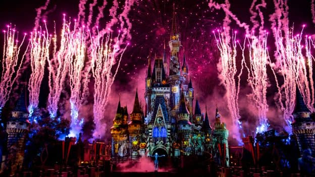 'Disney's Not So Spooky Spectacular' Fireworks