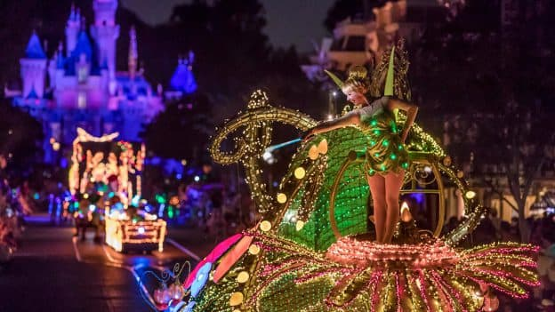 Tinker Bell at Main Street Electrical Parade at Disneyland