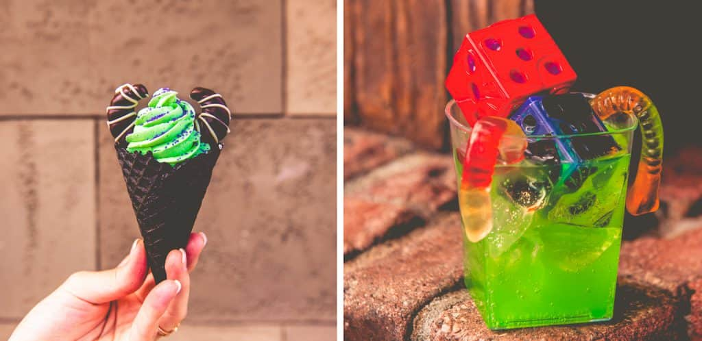 Maleficent Cone and Snake Eyes from Storybook Treats for Mickey's Not-So-Scary Halloween Party at Magic Kingdom Park