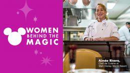 Aimée Rivera, a 23-year culinary veteran and Chef de Cuisine at Walt Disney World Resort