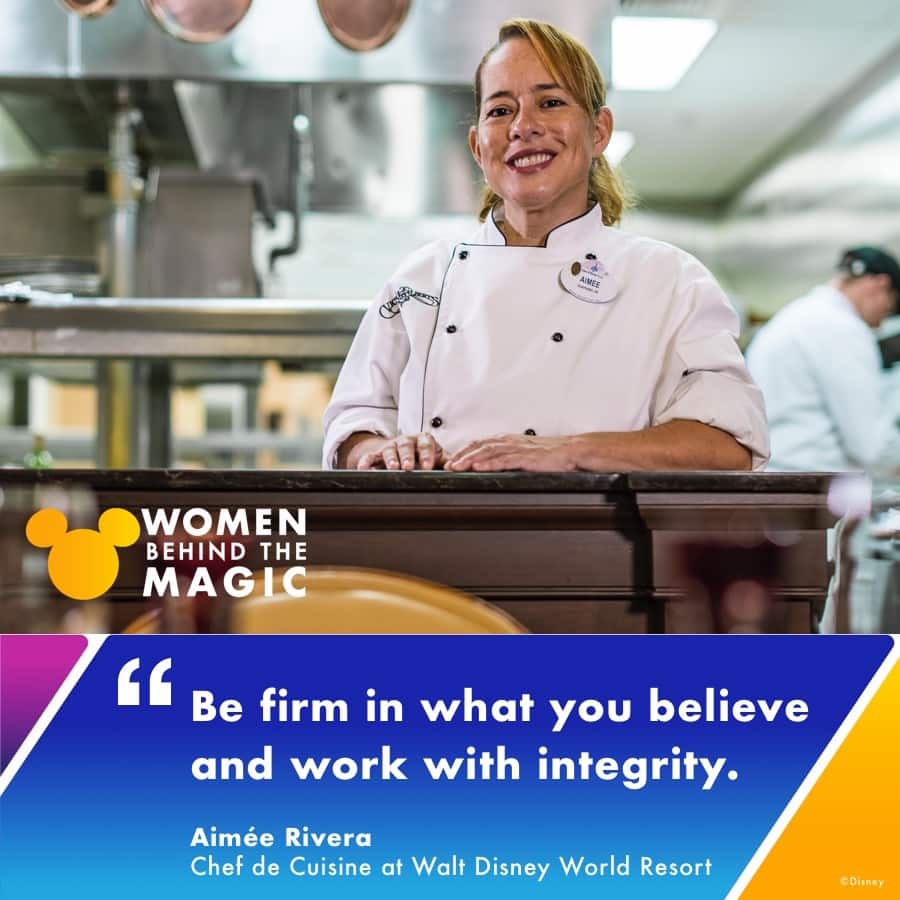 Aimée Rivera, a 23-year culinary veteran and Chef de Cuisine at Walt Disney World Resort