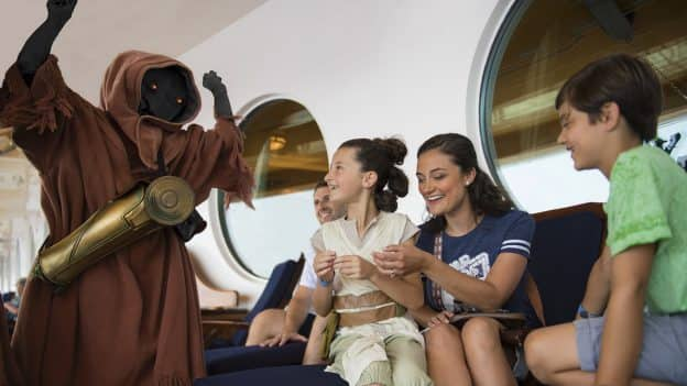 Surprise encounters with Jawas during Star Wars Day at Sea