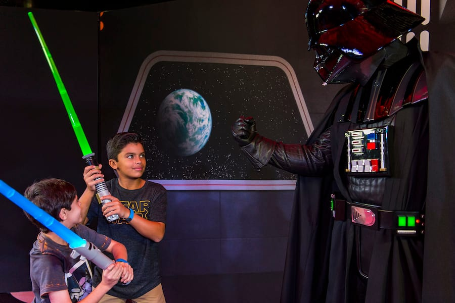 Encounters with Darth Vader duringStar Wars Day at Sea