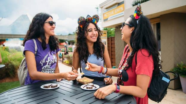 Guests enjoying the Epcot International Food & Wine Festival