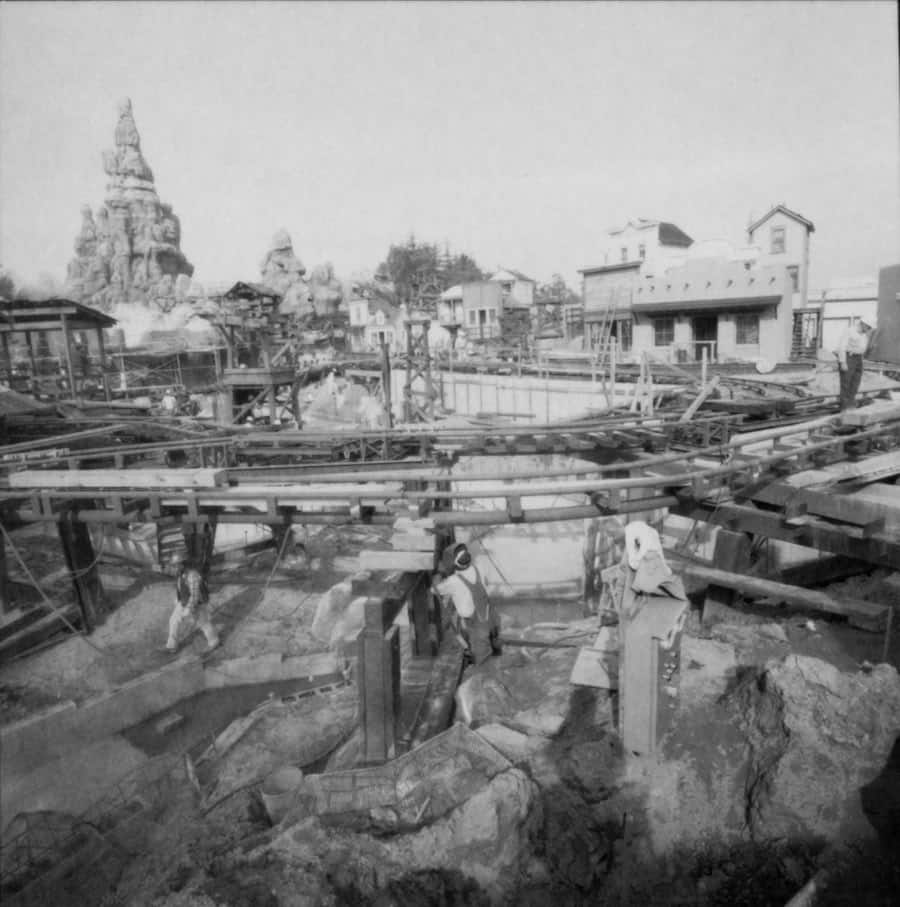 Construction of Big Thunder Railroad at Disneyland park