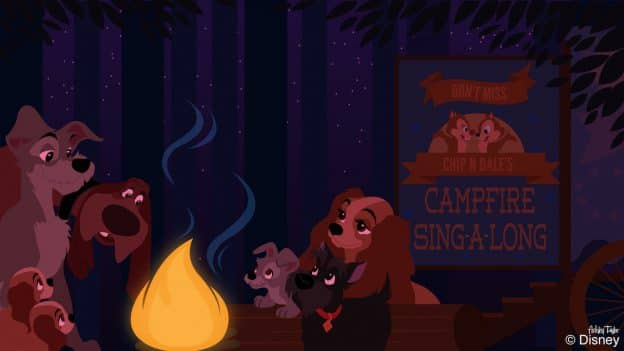 Trusty from 'Lady and The Tramp' Tells Tales at Disney's Fort Wilderness Resort & Campground