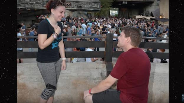 Couple gets engaged at Star Wars: Galaxy's Edge