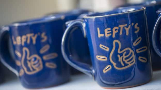 Mug from Lefty's—The Left Hand Store at Disney Springs