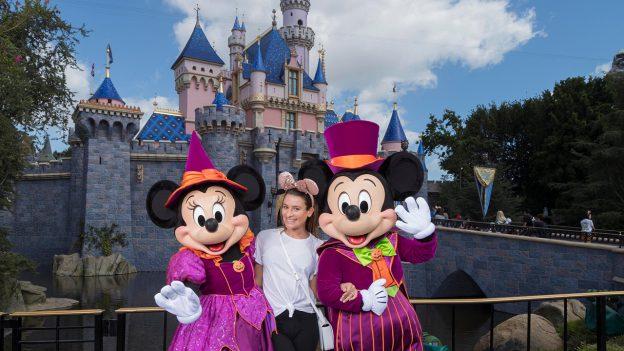 Lea Michele Celebrates Halloween Time at Disneyland Resort