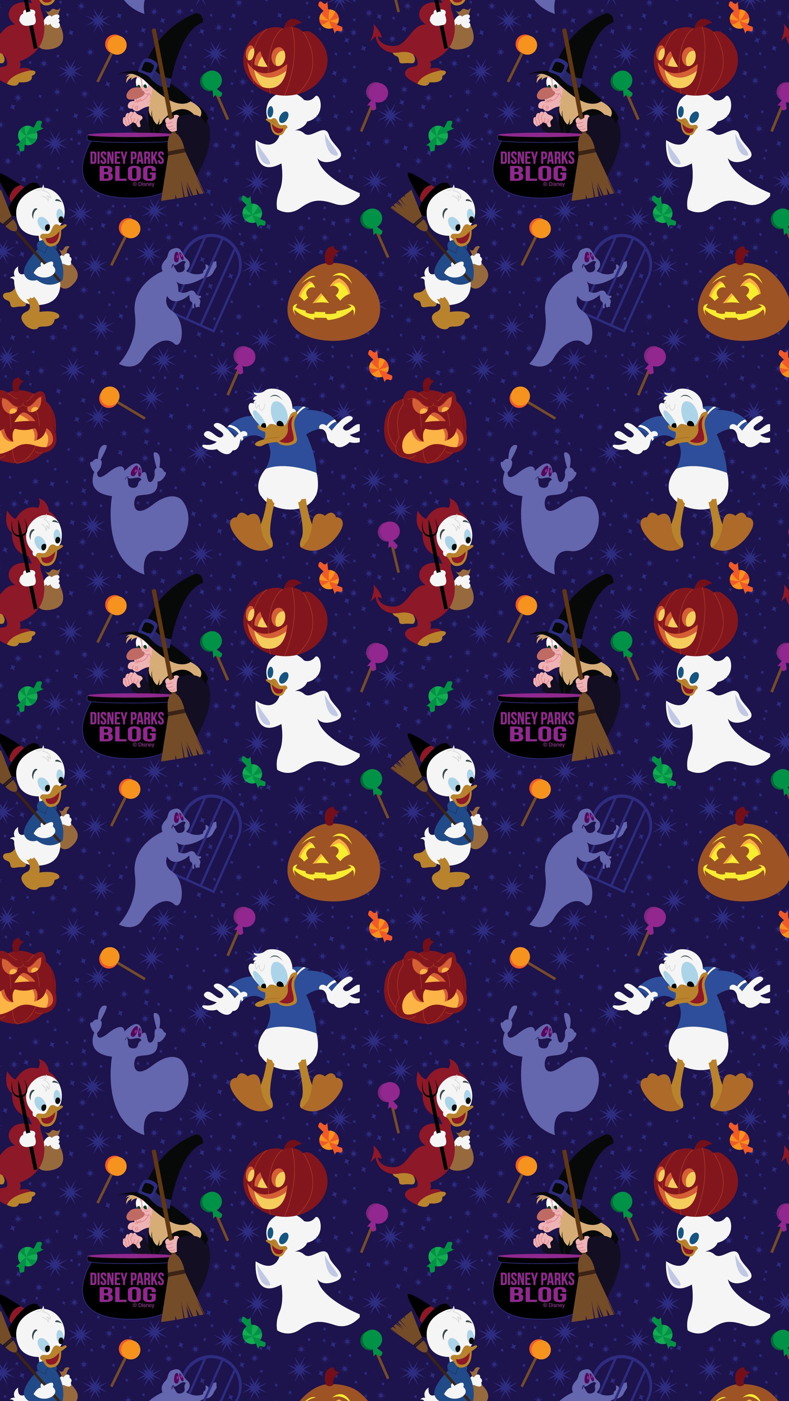 2019 Donald Duck Halloween Wallpaper Iphone Android Disney