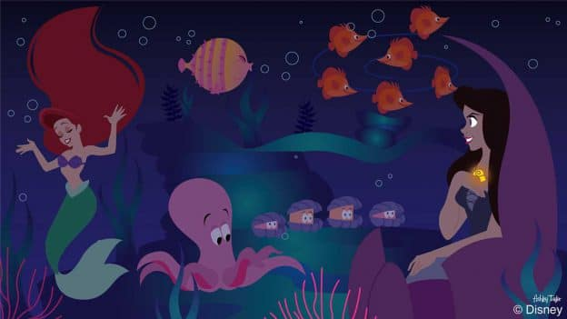 Ursula Is Up To Her Old Tricks at Under the Sea ~ Journey of The Little Mermaid in today's Disney Doodle