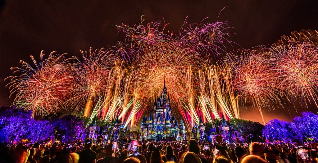 Disney's Not So Spooky Spectacular firework show