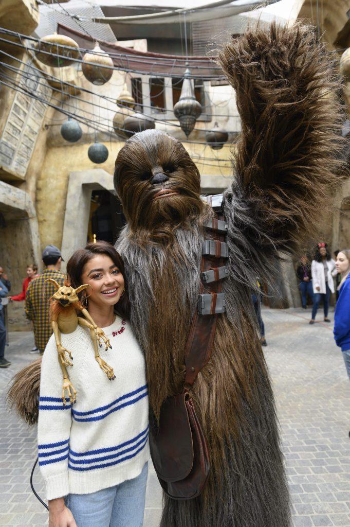 Sarah Hyland at Star Wars: Galaxy's Edge