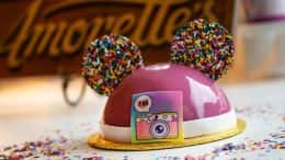 Amorette's Patisserie cake celebrating 1 Million @DisneySprings Instagram followers