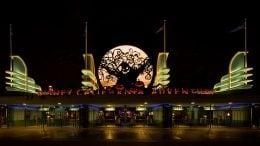 Disney California Adventure park entrance during Halloween Time