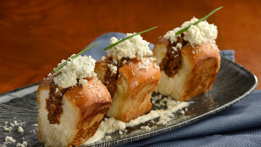 Mini Smoked Short Rib Sliders from Enchanted Rose at Disney's Grand Floridian Resort & Spa