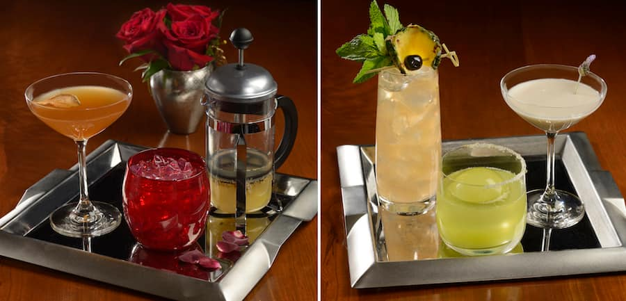 Specialty Alcoholic Beverages from Enchanted Rose at Disney's Grand Floridian Resort & Spa