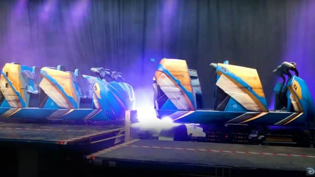 First Look: Guardians of the Galaxy: Cosmic Rewind Ride Vehicles