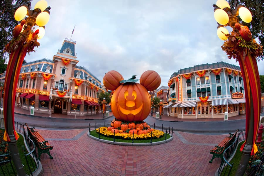 Pumpkin festival on Main Street, U.S.A. at Disneyland park