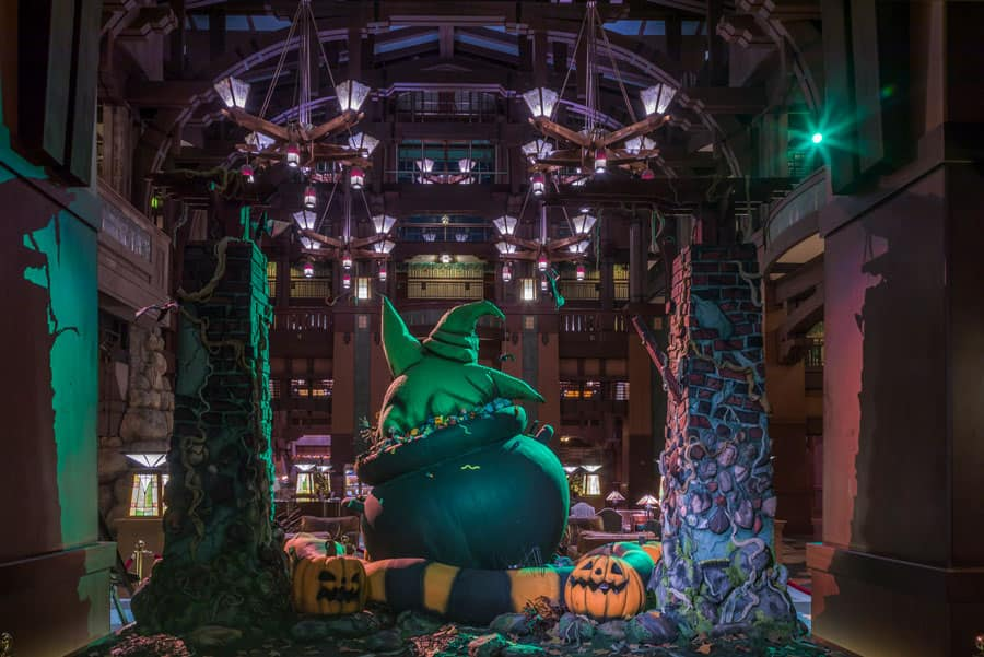 Halloween decor at Disney's Grand Californian Hotel & Spa