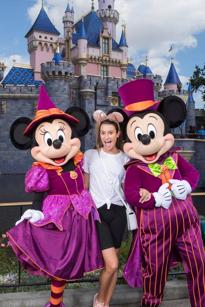 Lea Michele Celebrates Halloween Time at Disneyland Resort