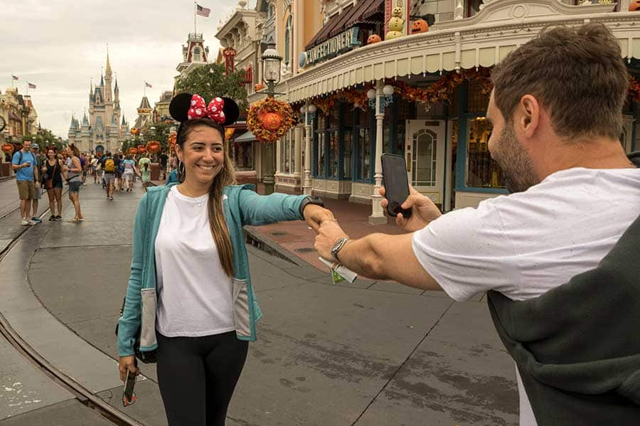 A Brazilian couple celebrating their recent engagement, Walt Disney World Resort