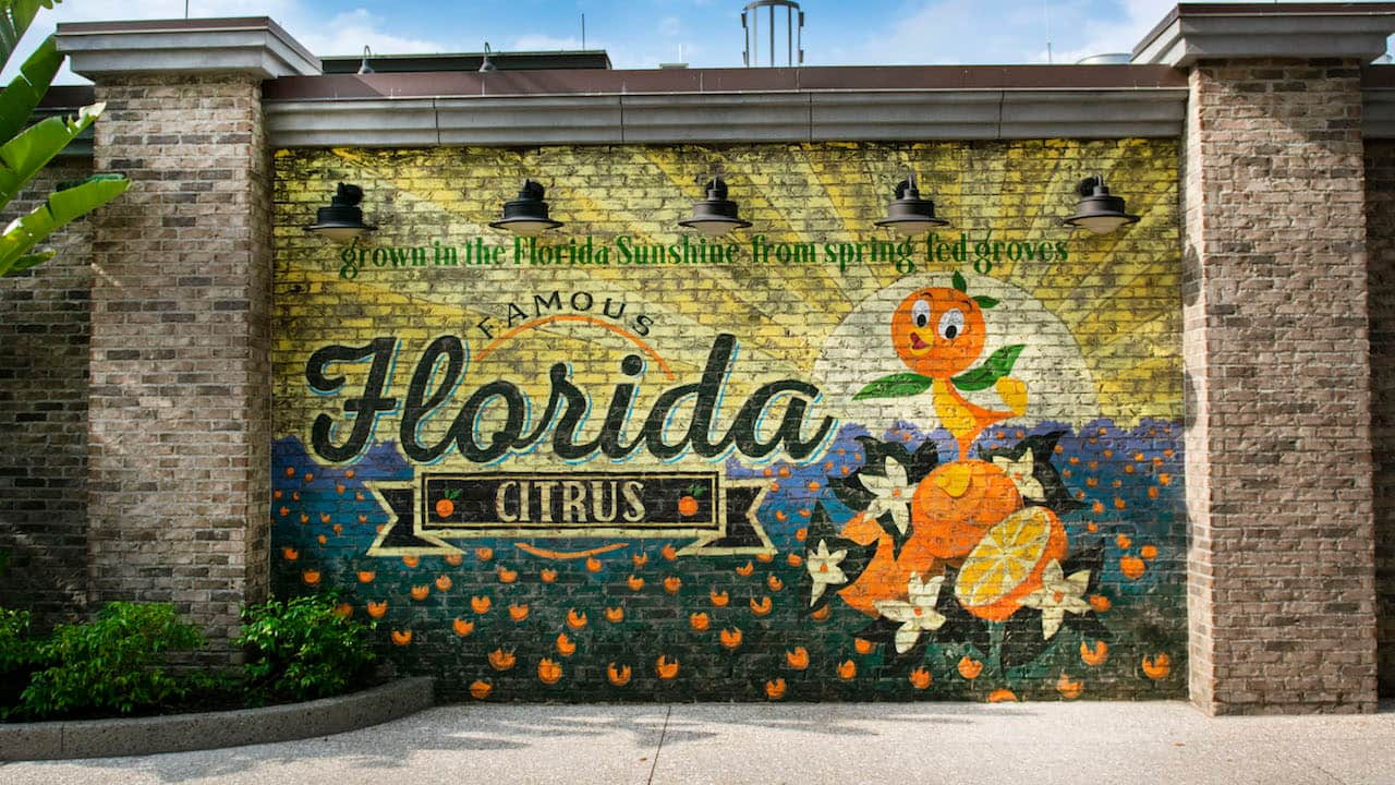 Orange Bird Mural photo by Disney Parks Blog