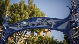 Downtown Disney sign at the Disneyland Resort