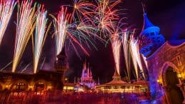 Fireworks view from Fantasyland a Magic Kingdom Park