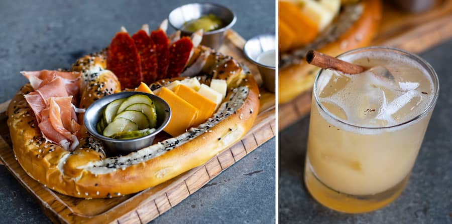 Giant Charcuterie Pretzel and Autumn Smash from Jock Lindsey's Hangar Bar for WonderFall Flavors at Disney Springs 2019